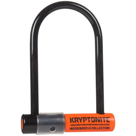 Kryptonite The Total Package Messenger Mini U-Lock and M9 WheelNutz in See Photo