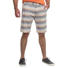 Kudeta Casual Cotton Stripe Shorts (For Men) in Multi - Closeouts