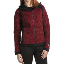 Kuhl Ferrata Sweater - Wool Bonded Fleece (For Women) in Ruby - Closeouts