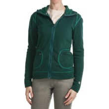 Kuhl Istria Hoodie Sweater - Kashmira Fleece (For Women) in Emerald - Closeouts