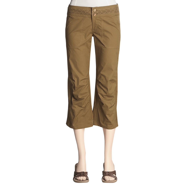 Excellent Bella Slim Womenu0026#39;s Cotton Spandex Yoga Capri Pants | EBay