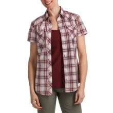 Kuhl Rumblr Plaid Shirt - UPF 30, Short Sleeve (For Women) in Berry - Closeouts