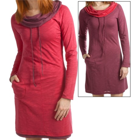 Kuhl Vega Reversible Dress - Modal-Organic Cotton, Long Sleeve (For Women) in Scarlet R/Ruby
