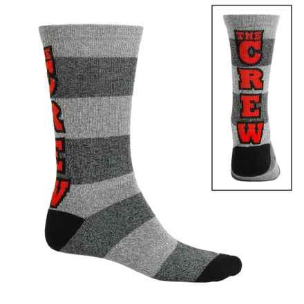 Kurb Cotton Blend Socks - Crew (For Men) in The Crew/Tri Multi - Closeouts