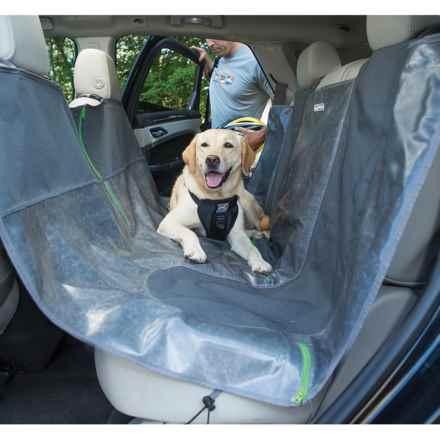 Kurgo Allagash Auto Dog Hammock Car Seat Cover in Charcoal/Grass Green - Closeouts