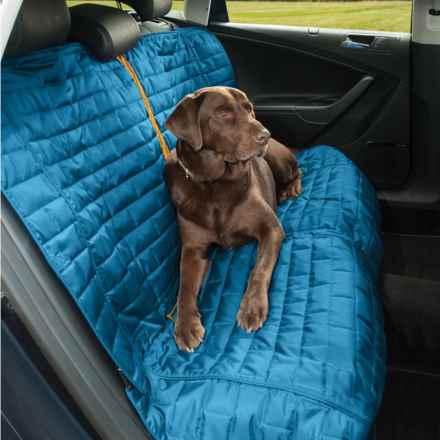 Kurgo Loft Dog Bench Seat Cover in Coastal Blue/Orange - Closeouts