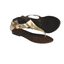 Kustom Chloe Sandals - Leather (For Women) in Gold - Closeouts