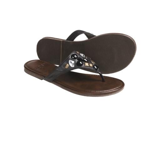 Kustom Envy Thong Sandals  (For Women) in Black