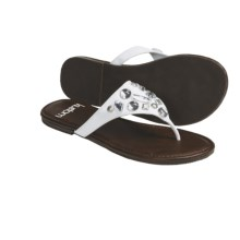 Kustom Envy Thong Sandals  (For Women) in White - Closeouts
