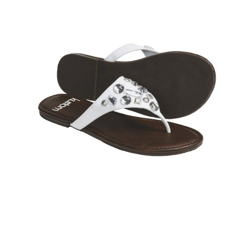 Kustom Envy Thong Sandals  (For Women) in White