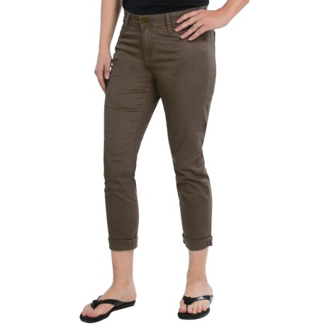 KUT from the Kloth Catherine Slim Boyfriend Jeans - Cuffed, Low Rise (For Women) in Olive