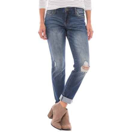 KUT from the Kloth Deconstructed Boyfriend Jeans (For Women) in Bluestem - Closeouts