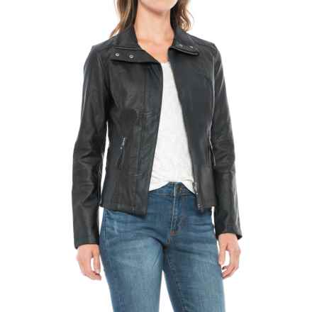 KUT from the Kloth Elana Jacket - Vegan Leather (For Women) in Black - Closeouts