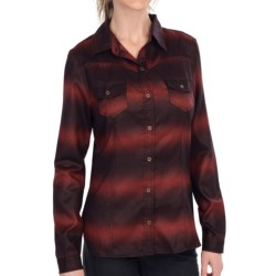 KUT from the Kloth Eleanor Ombre Western Shirt - Long Sleeve (For Women) in Indigo