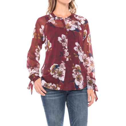 KUT from the Kloth Floral Shirt - Long Sleeve (For Women) in Rose - Closeouts