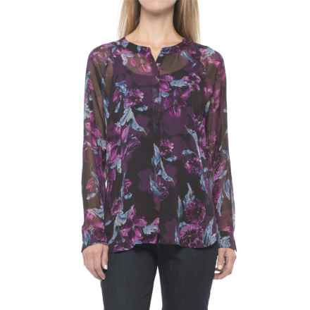 KUT from the Kloth Floral Shirt - Long Sleeve (For Women) in Violet/Black - Closeouts
