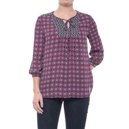 KUT from the Kloth Maci Floral Shirt - 3/4 Sleeve (For Women) in Berry - Closeouts