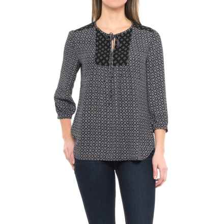 KUT from the Kloth Maci Floral Shirt - 3/4 Sleeve (For Women) in Black - Closeouts