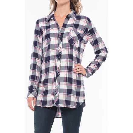 KUT from the Kloth Plaid Shirt - Long Sleeve (For Women) in Navy/Pink - Closeouts