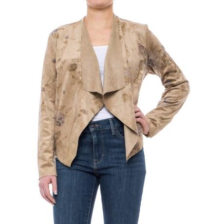 KUT from the Kloth Tayanita Drape Jacket - Microfiber (For Women) in Brown