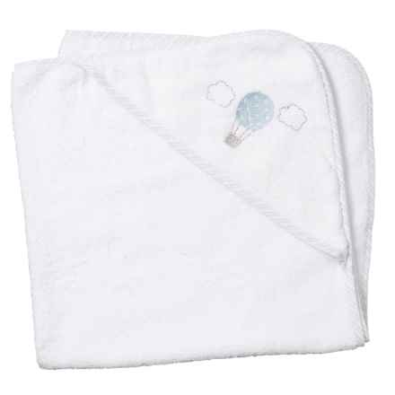 Kyle & Dee Hooded Balloon Towel (For Newborns) in Blue - Closeouts