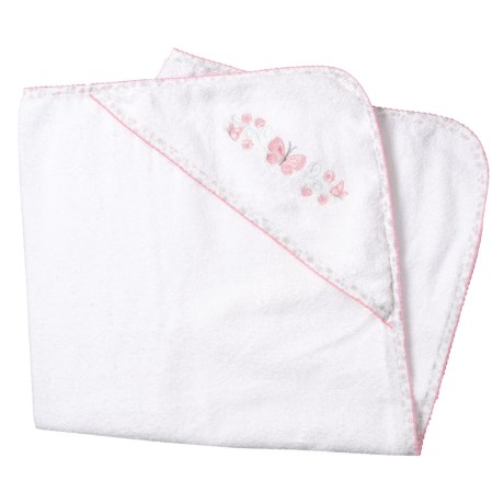 Kyle & Dee Hooded Butterfly Towel (For Newborns) in Pink