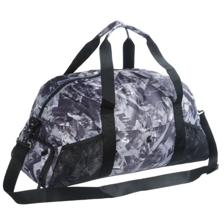 Kyodan Active Duffel Bag in Mixed Media Black/Black Print