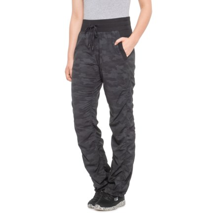 e8dd6ee0eaf951 Kyodan Black Camo Print Flared Woven Pants (For Women) in Black Camo Print