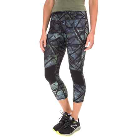 Kyodan Classic High-Waisted Capris (For Women) in Digital Web/Moss/Black - Closeouts