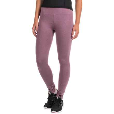 Kyodan Classic High-Waisted Leggings (For Women) in Plum Melange - Closeouts