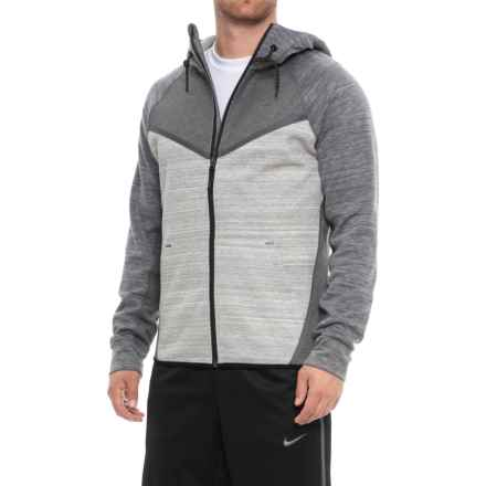 Kyodan Color-Block Hoodie - Zip Front (For Men) in Charcoal Mix/Grey Mix - Closeouts