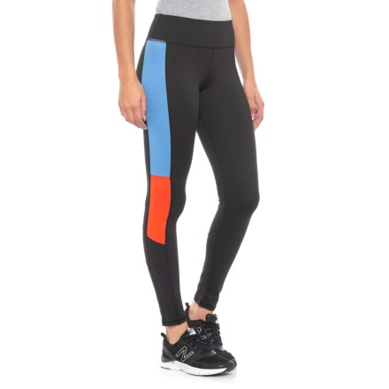 887647aabaf Kyodan Color-Block Leggings (For Women) in Black Palace Blue Red