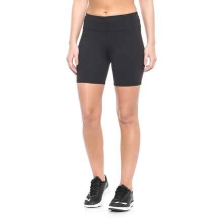 Kyodan Compression Shorts (For Women) in Black W/Clear Puller - Closeouts