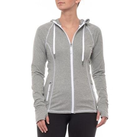 Kyodan Core Hooded Jacket (For Women) in White Grey Melange - Closeouts d52c25e72e