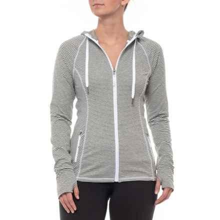 Kyodan Core Hooded Jacket (For Women) in White/Grey Melange - Closeouts