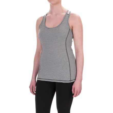 Kyodan Core Racerback Long Bra - Medium Impact (For Women) in Mid Grey Stripe - Closeouts