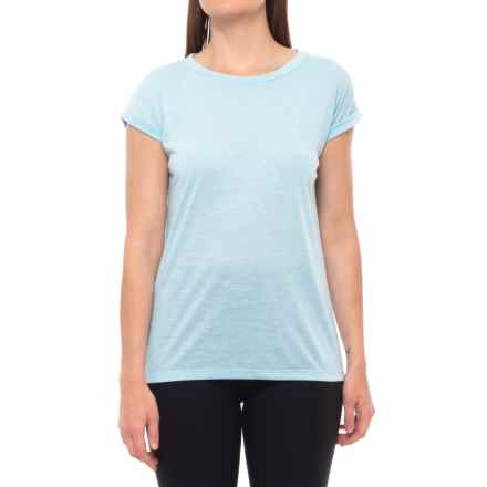 Kyodan Crew Neck Shirt - Short Sleeve (For Women) in Crystal Mix - Closeouts