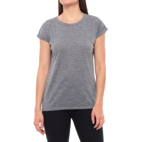 Kyodan Crew Neck Shirt - Short Sleeve (For Women) in Pewter Mix