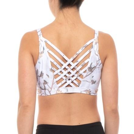 a1ed44653cbe9 Kyodan Crisscross Back Sports Bra - Medium Impact (For Women) in Cotton  Blossom -