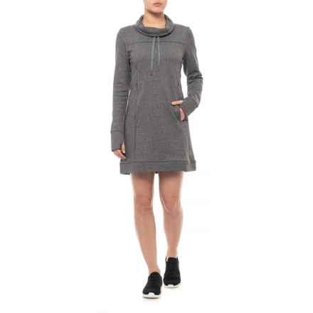 Kyodan Fleece Dress - Long Sleeve (For Women) in Charcoal Melange - Closeouts