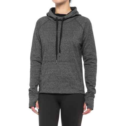 Kyodan Fleece Hoodie - Cotton Blend, Long Sleeve (For Women) in Black/Grey Grindle - Closeouts