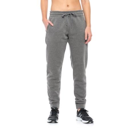 Kyodan Fleece Jogger Pants (For Women) in Charcoal Mel