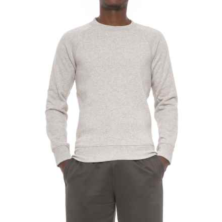 Kyodan Fleece Shirt - Crew Neck, Long Sleeve (For Men) in Grey Melange - Closeouts