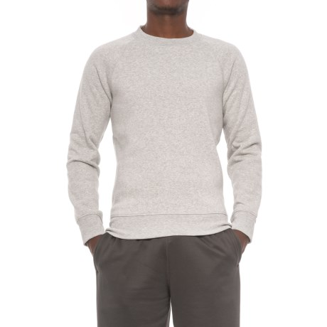 Kyodan Fleece Shirt - Crew Neck, Long Sleeve (For Men) in Grey Melange