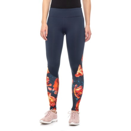 4f30d7fa767fe2 Kyodan Floral Printed Leggings (For Women) in Navy/Colorful Flowers -  Closeouts