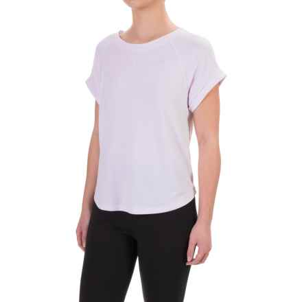 Kyodan French Terry Sport Shirt - Short Sleeve (For Women) in White - Closeouts