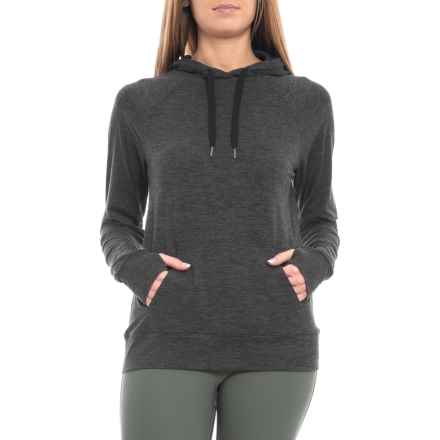Kyodan Front Pocket Hooded Shirt - Long Sleeve (For Women) in Pavement Heather - Closeouts