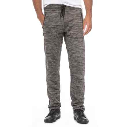 Kyodan Heathered Drawstring Waist Joggers (For Men) in Black Stripe - Closeouts