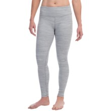 Kyodan Herringbone Warmhand Leggings (For Women) in Grey/Ivory - Closeouts