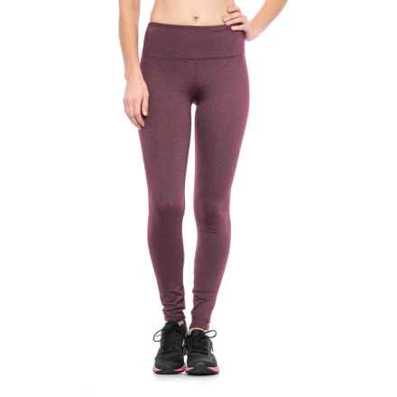 Kyodan High-Waisted Running Tights (For Women) in Fig Melange - Closeouts